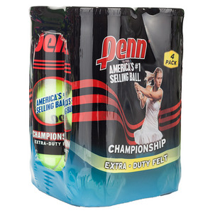 Champ Extra-Duty Felt 4 Pack Tennis Balls