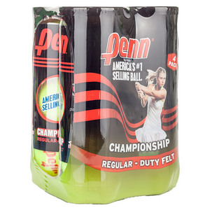 Champ Regular-Duty Felt 4 Pack Tennis Balls