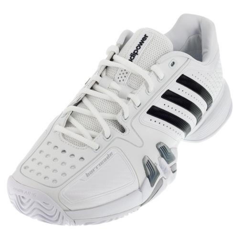 Men's Adipower Barricade 7 Nd Tennis Shoes White/Black