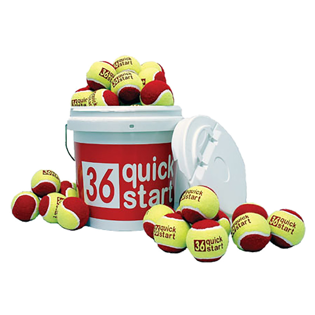 Quick Start 36 Red Felt Balls 24 Count Bucket