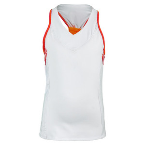 Girls` V-Neck Racerback Tennis Tank White