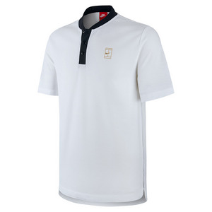 Men`s Court Tennis Polo White