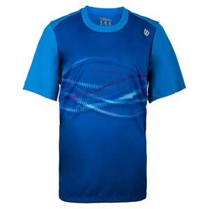 Boys` Soundwave Print Tennis Crew Neptune Blue