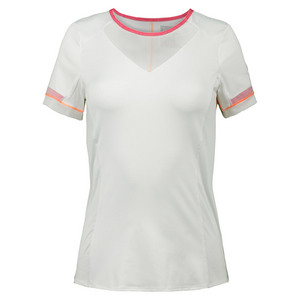 Women`s Short Sleeve Tennis Crew White