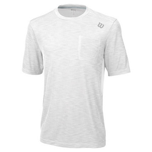 Men`s Textured Tennis Crew White