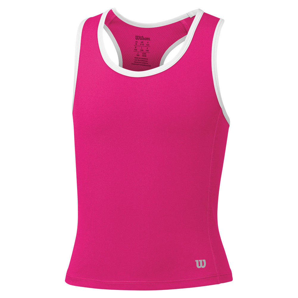 Girls ` Rush Tennis Tank Pink Glo
