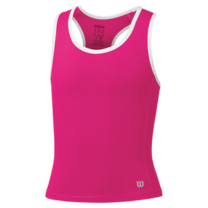 Girls` Rush Tennis Tank Pink Glo