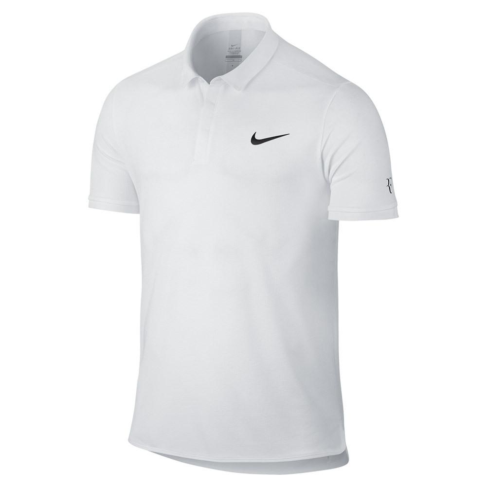 Men's Roger Federer Advantage Premier Tennis Polo White
