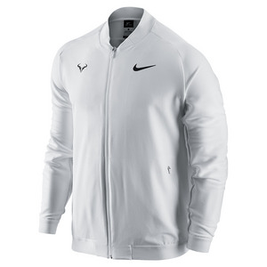 Men`s Rafa Premier Tennis Jacket White and Black