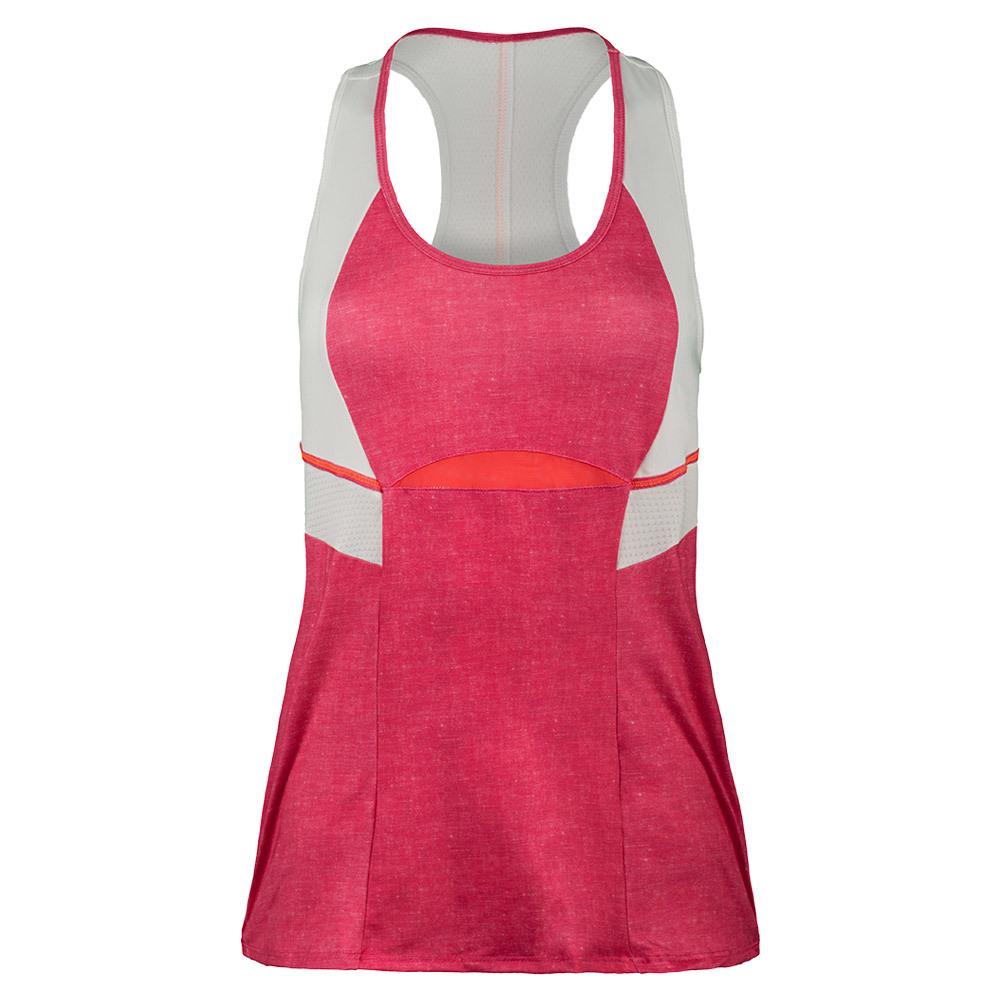 Women's Colorblock Racerback Tennis Tank Hibiscus Linen