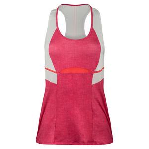 Women`s Colorblock Racerback Tennis Tank Hibiscus Linen