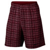 Men`s Court 9 Inch Plaid Tennis Short 620_NOBLE_RED/BLK