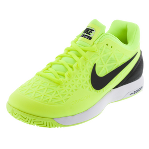 Men`s Zoom Cage 2 Tennis Shoes Volt and Black