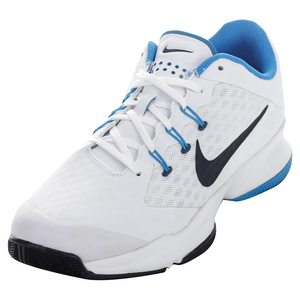 Men`s Air Zoom Ultra Tennis Shoes White and Photo Blue