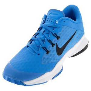 Men`s Air Zoom Ultra Tennis Shoes Blue Glow and White