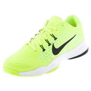 Men`s Air Zoom Ultra Tennis Shoes Volt and White