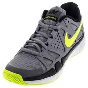 Men`s Air Vapor Advantage Tennis Shoes Stealth and Black
