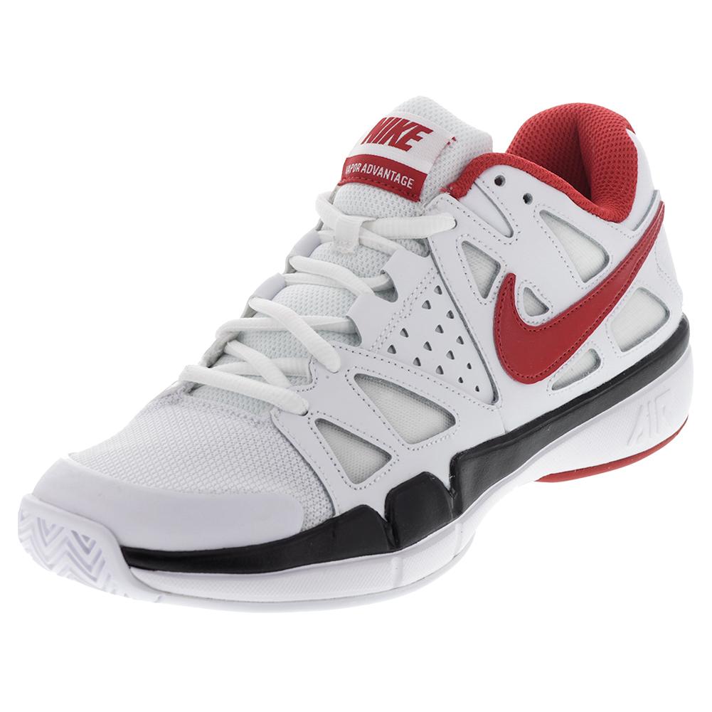 nike s air vapor advantage tennis shoes white and black