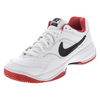 NIKE Men`s Court Lite Tennis Shoes White and University Red