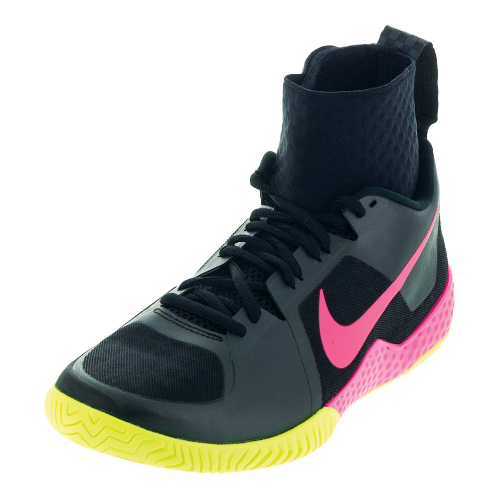 Women's Flare Tennis Shoes Black And Volt