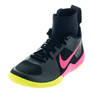 Women`s Flare Tennis Shoes Black and Volt