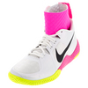NIKE Women`s Flare Tennis Shoes White and Volt