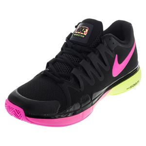 Women`s Zoom Vapor 9.5 Tour Tennis Shoes Black and Volt