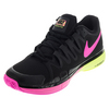 NIKE Women`s Zoom Vapor 9.5 Tour Tennis Shoes Black and Volt