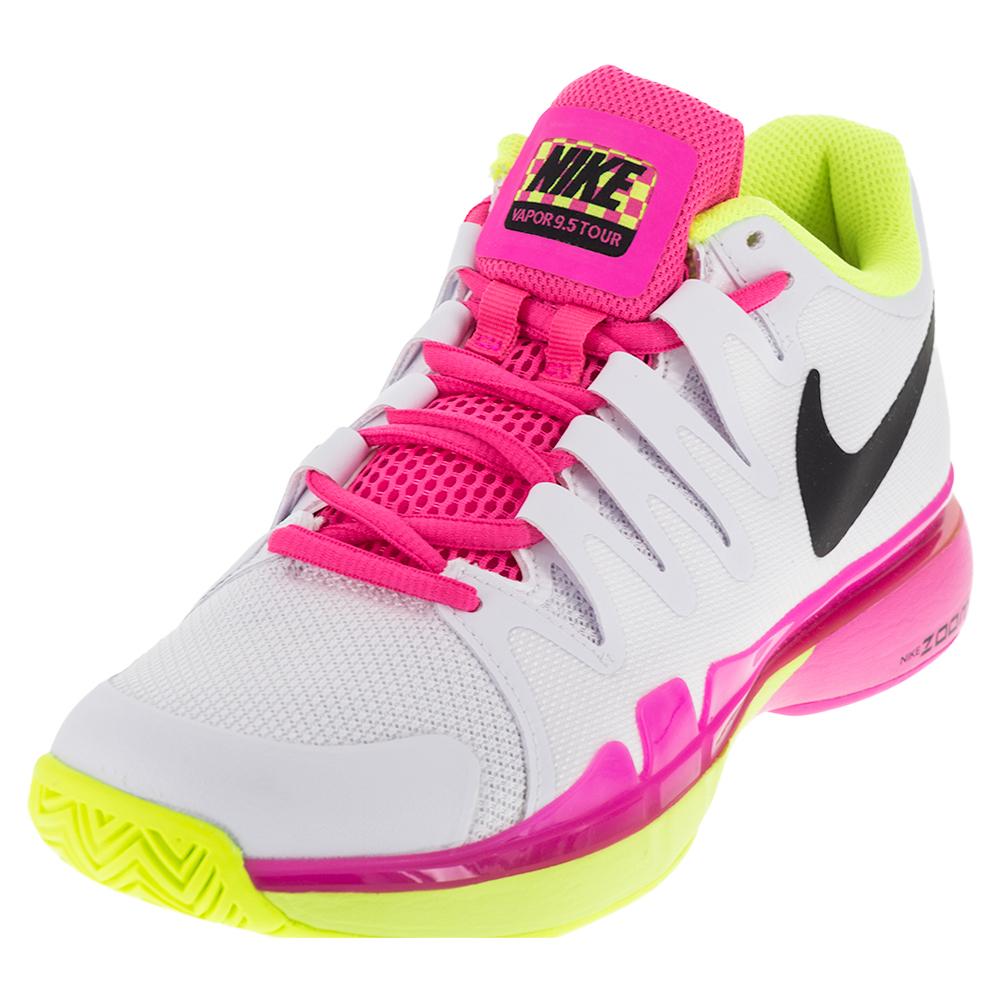 Women's Zoom Vapor 9.5 Tour Tennis Shoes White And Volt