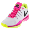 NIKE Women`s Zoom Vapor 9.5 Tour Tennis Shoes White and Volt