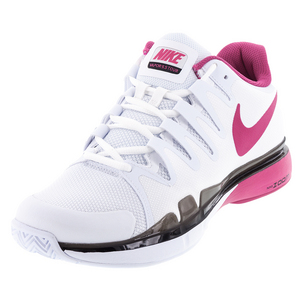 Women`s Zoom Vapor 9.5 Tour Tennis Shoes White and Pink Blast