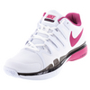 Women`s Zoom Vapor 9.5 Tour Tennis Shoes White and Pink Blast by NIKE