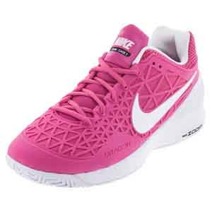 Women`s Zoom Cage 2 Tennis Shoes Pink Blast and White