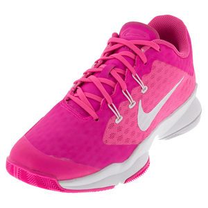 Women`s Air Zoom Ultra Tennis Shoes Pink Blast and White