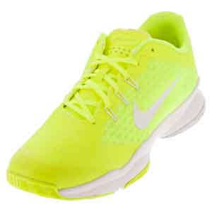 Women`s Air Zoom Ultra Tennis Shoes Volt and White