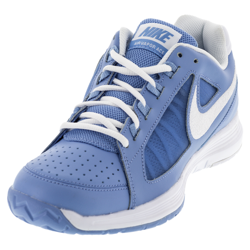 nike s air vapor ace tennis shoes light blue and white