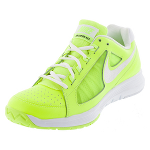 Women`s Air Vapor Ace Tennis Shoes Volt and White