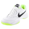 NIKE Women`s Court Lite Tennis Shoes White and Volt