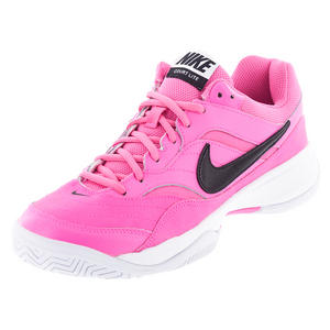 Women`s Court Lite Tennis Shoes Pink Blast and Black