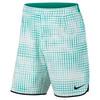 Men`s Gladiator 9 Inch Printed Tennis Short 351_RIO_TEAL/BLK
