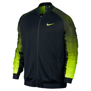 Men`s Nike Premier Jacket Black and Volt