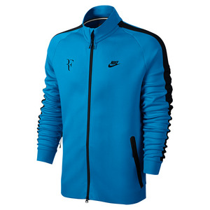 Men`s Roger Federer Tennis Jacket Light Photo Blue