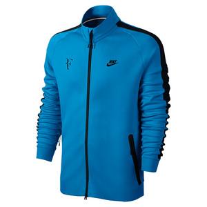 Men`s Roger Federer Tennis Jacket Light Photo Blue