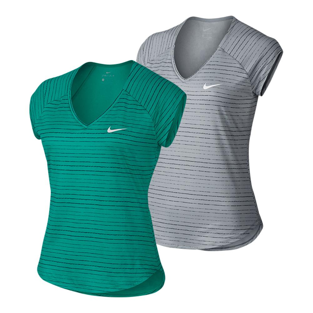 Women's Court Pure Printed Tennis Top