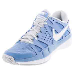Women`s Air Vapor Advantage Tennis Shoes Light Blue and Pure Platinum