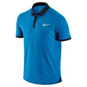 Men`s Roger Federer Advantage Tennis Polo Light Photo Blue