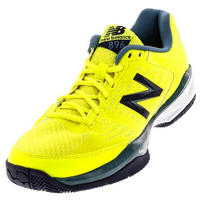 Men`s 896v1 D Width Tennis Shoes Firefly and Blue