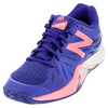 NEW BALANCE Women`s 1296v2 B Width Tennis Shoes Blue and Guava