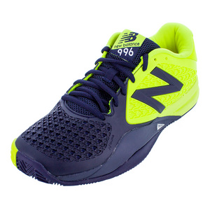 Men`s 996v2 D Width Tennis Shoes Blue and Yellow