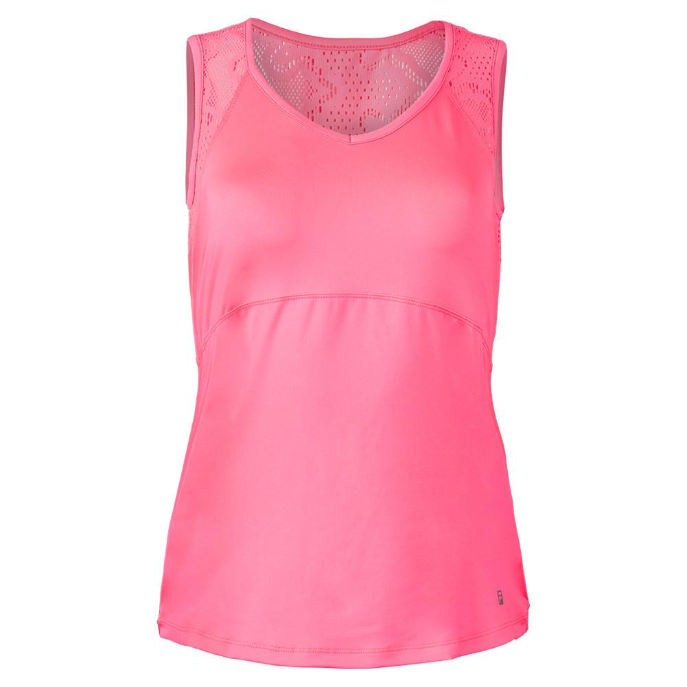Women's Ace Full Back Sleeveless Tennis Tank Pink Flamingo